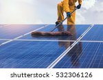 solar power engineering working ... | Shutterstock . vector #532306126