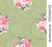seamless floral pattern with... | Shutterstock .eps vector #532306333