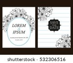 invitation with floral... | Shutterstock .eps vector #532306516