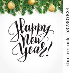 vector background with fir tree ... | Shutterstock .eps vector #532309834