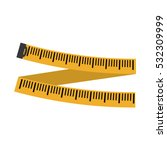 measuring tape diet icon image... | Shutterstock .eps vector #532309999