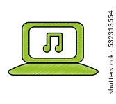computer with music icon image... | Shutterstock .eps vector #532313554