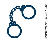 handcuffs device icon over... | Shutterstock .eps vector #532315030