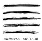 black ink vector brush strokes... | Shutterstock .eps vector #532317850