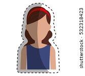 woman sport wear icon vector...   Shutterstock .eps vector #532318423
