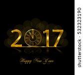 happy new year 2017   Shutterstock . vector #532323190