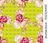 seamless floral pattern with... | Shutterstock .eps vector #532324450
