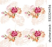 seamless floral pattern with... | Shutterstock .eps vector #532324456