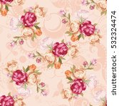 seamless floral pattern with... | Shutterstock .eps vector #532324474