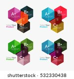 vector business geometric... | Shutterstock .eps vector #532330438