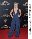 "Small photo of LOS ANGELES, CA. October 20, 2016: Alisha Marie at the world premiere of Marvel Studios' ""Doctor Strange"" at the El Capitan Theatre, Hollywood."