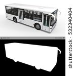 small urban white bus on a... | Shutterstock . vector #532340404