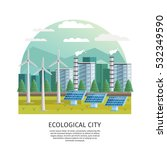 orthogonal icon ecological city ... | Shutterstock .eps vector #532349590