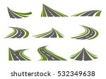 set with flat isolated curving... | Shutterstock .eps vector #532349638
