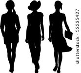 silhouettes girls revue | Shutterstock .eps vector #53235427