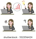 personal computer and business...   Shutterstock .eps vector #532356424