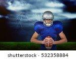 3d confident american football... | Shutterstock . vector #532358884