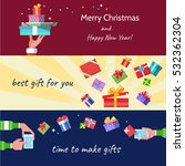 flat horizontal banners with... | Shutterstock .eps vector #532362304