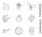 hashish icons set. outline... | Shutterstock .eps vector #532365028
