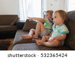 little brother and sister... | Shutterstock . vector #532365424
