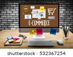 e commerce add to cart online ... | Shutterstock . vector #532367254