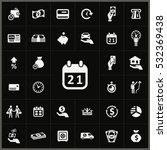 calendar icon. credit icons... | Shutterstock . vector #532369438