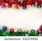 christmas background with... | Shutterstock . vector #532378960