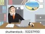 the businessman dreams of... | Shutterstock .eps vector #53237950