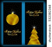 postcard    merry christmas and ... | Shutterstock .eps vector #532382368