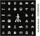 pedestrian icon. city icons... | Shutterstock . vector #532385410