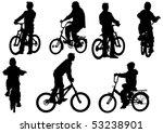vector drawing bicycle children ... | Shutterstock .eps vector #53238901