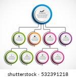 infographic design organization ... | Shutterstock .eps vector #532391218