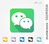 colored icon of chat symbol... | Shutterstock .eps vector #532393534