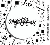 congratulation card. vector... | Shutterstock .eps vector #532395928