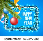 happy new year poster with... | Shutterstock .eps vector #532397980