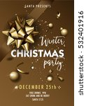 merry christmas party layout... | Shutterstock .eps vector #532401916