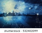 duo tone graphic of smart city... | Shutterstock . vector #532402099
