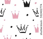 Cute Pattern With Crown