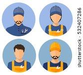 set car icons. repair avatar. a ... | Shutterstock .eps vector #532407286
