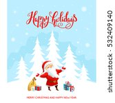 holiday christmas background... | Shutterstock .eps vector #532409140
