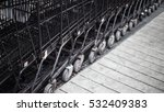 a row sf shopping carts in... | Shutterstock . vector #532409383