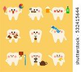 dental teeth brush vector... | Shutterstock .eps vector #532415644