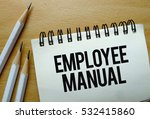 employee manual text written on ... | Shutterstock . vector #532415860