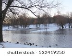 frosty winter morning | Shutterstock . vector #532419250