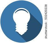 bulb icon vector flat design...