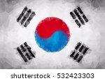 south korean polygon flag...   Shutterstock .eps vector #532423303