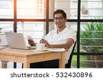casual indian male working at... | Shutterstock . vector #532430896