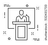 public speaker vector icon   Shutterstock .eps vector #532431733