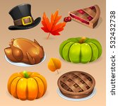 Thanksgiving Day Icons Set 2