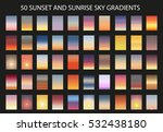 vector set of 50  sunset and... | Shutterstock .eps vector #532438180